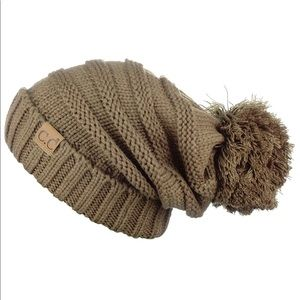 C.C Hat Exclusives Oversized Slouchy Beanie w/ Pom